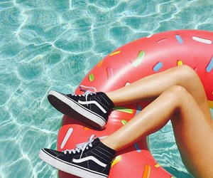 vans, summer, and donut image