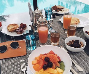 summer, breakfast, and drinks image