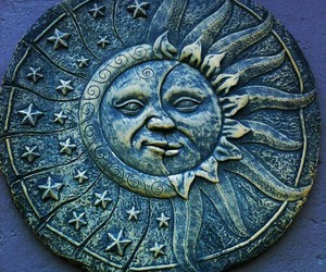 sun, moon, and blue image