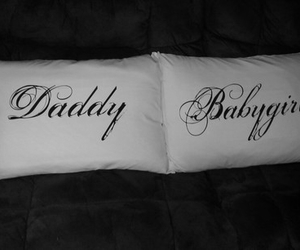 daddy, babygirl, and pillow image