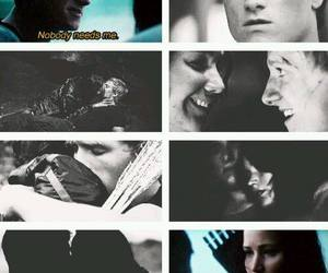 catching fire, the hunger games, and peeta mellark image