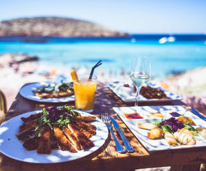 food, beach, and photography image