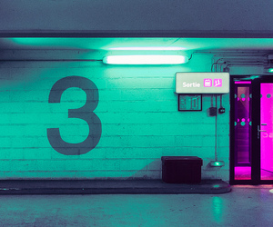 neon, aesthetic, and green image
