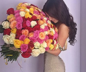 love, flowers, and hair image