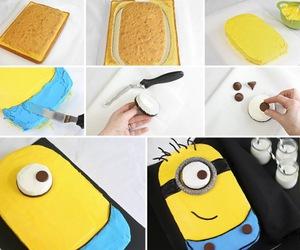 cake, minions, and diy image