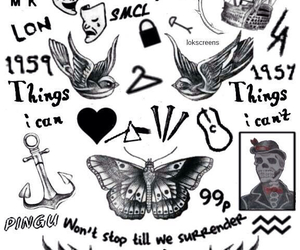 Harry Styles, one direction, and tattoo image