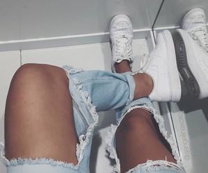 girl, fashion, and denim image