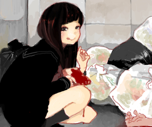 girl and blood image