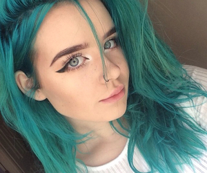 hair, green, and pretty image