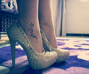 shoes, tattoo+, and heels+ image