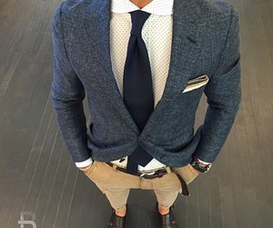 man fashion blue brown image