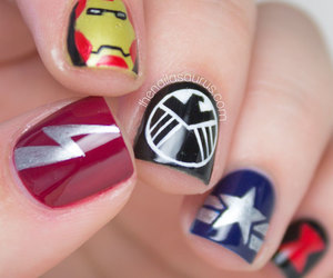 awesome, Marvel, and nail art image