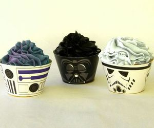 cupcakes, darth vader, and desserts image