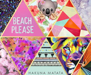 beach, Collage, and colorful image