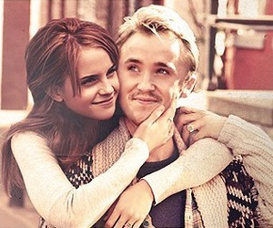 emma watson, harry potter, and tom felton image