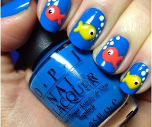fish, nail art, and nails image
