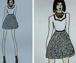 fashion, fashion sketch, and sketch image