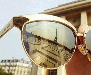 paris, gucci, and sunglasses image