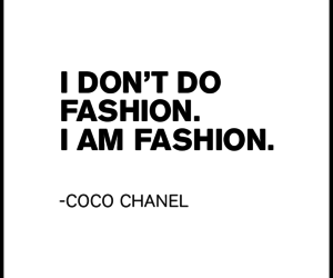 fashion, chanel, and quote image
