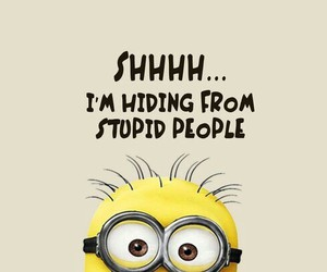 minions, funny, and stupid image