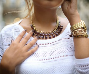 beauty, jewellery, and necklace image