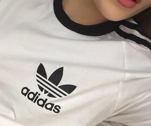 adidas, lips, and white image