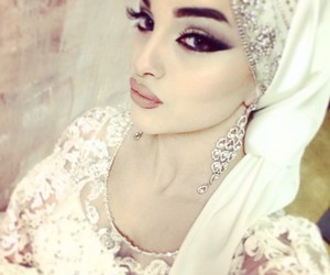 beauty, hijab, and style image