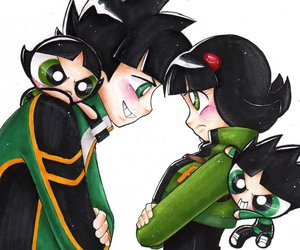 art, black hair, and buttercup image