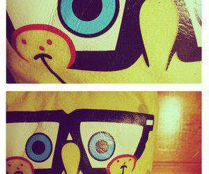 bob esponja, glases, and love image