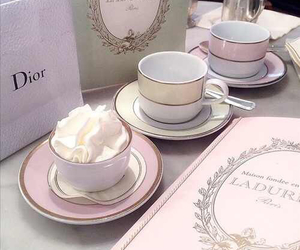 cups, dior, and luxury image