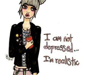 depressed, girl, and realistic image