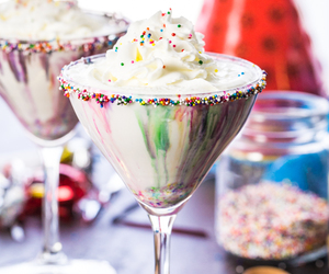 drink, sweets, and food image