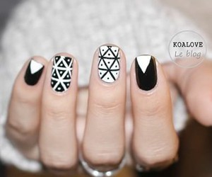 and, black, and geometric image