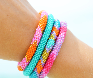 beach, bracelets, and fair trade image