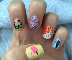 nail art, nails, and summer image