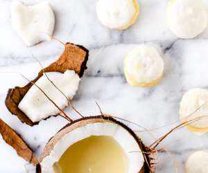 coconut, dessert, and pineapple image