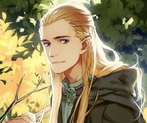 Legolas, anime, and LOTR image