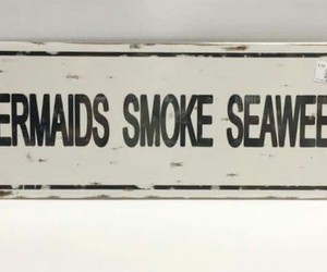 mermaid, seaweed, and smoke image