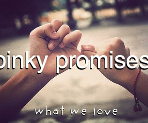 promise, girl, and pinky promises image