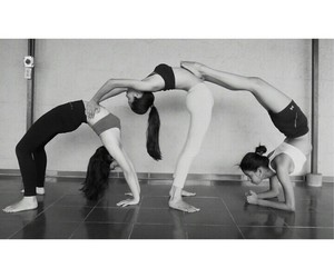 yoga, fitnes, and friends image