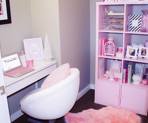 bedroom decor, pink, and room image