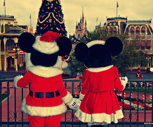 christmas, mickey mouse, and minnie mouse image