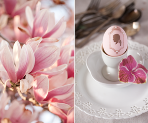 cherry blossom, easter, and egg image