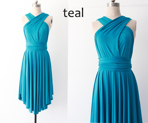 teal, triangle, and bridesmaid dress image