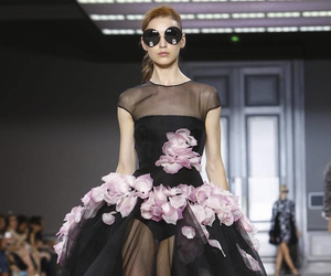 fashion week, flowers, and haute couture image