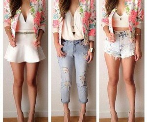 outfit, summer, and flowers image