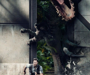 jurassic world, dinosaur, and chris pratt image