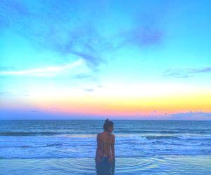 bikini, blue, and bright image