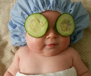babies, facial, and relax image