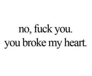 boyfriend, broken, and fuck you image